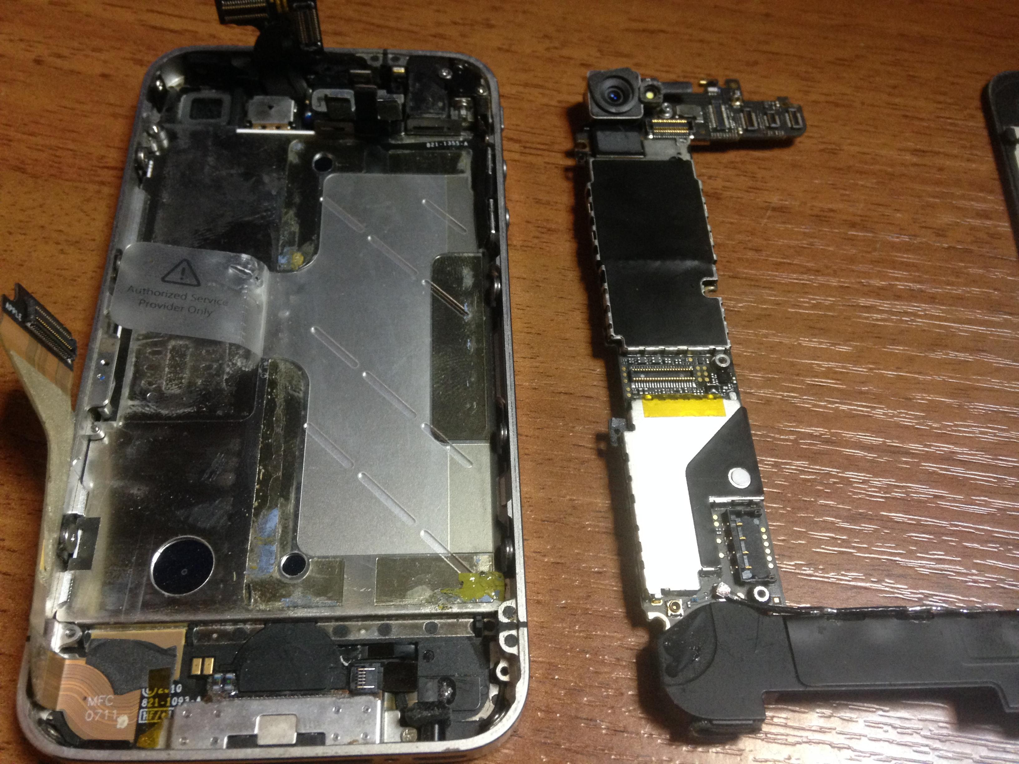 Замена платы iphone 4 своими руками