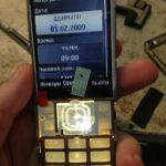 Треснул экран на телефоне, меняем  дисплей на телефоне Nokia 6300.